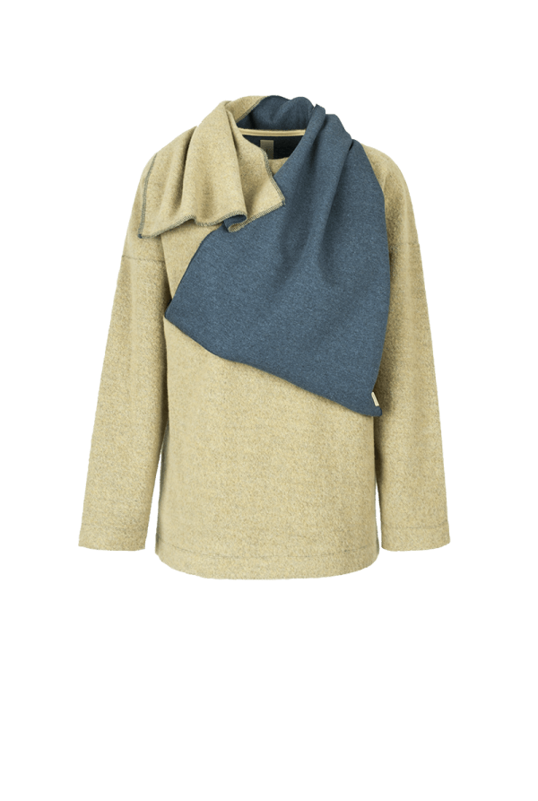 18. SEMIBREVE scarf sweater Yellow low