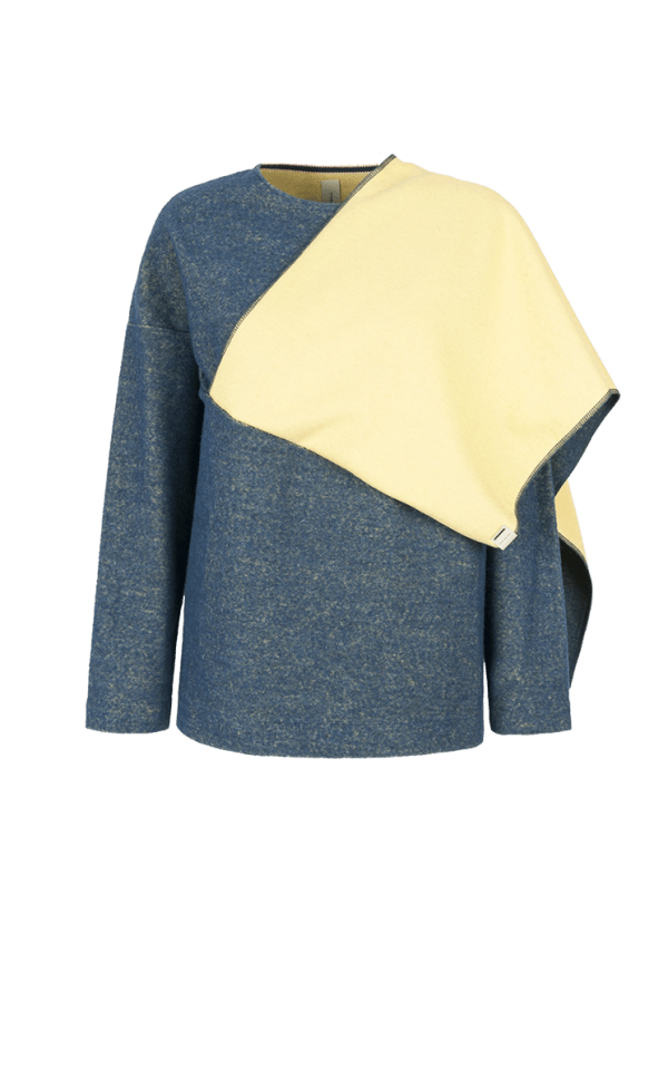 20. SEMIBREVE scarf sweater Blue low