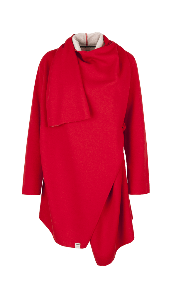 39. NOISE coat.Red low
