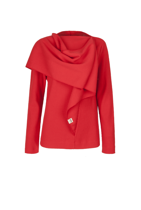 4. CLOP scarf long sleeve.Red low