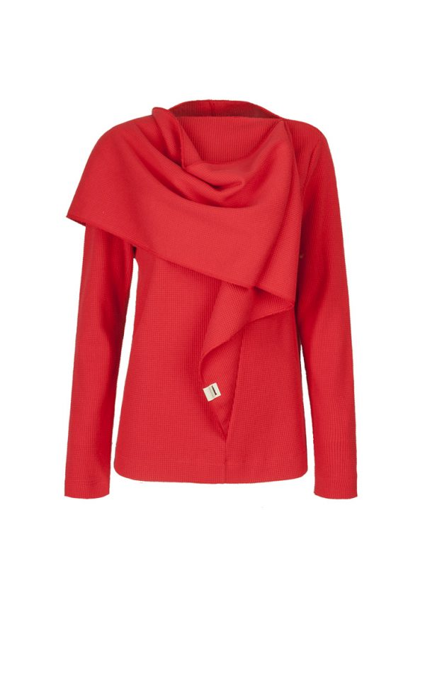 4. CLOP scarf long sleeve.Red low copy