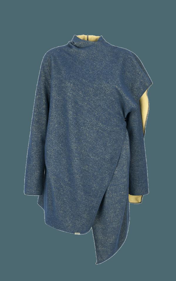 43. NOISE coat.Blue low