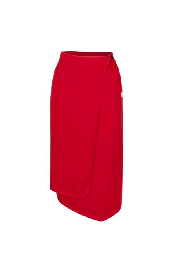 46. SOUND skirt.Red low