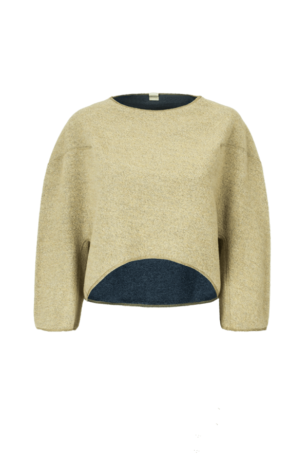 7. MINERAL short sweater.Yellow low