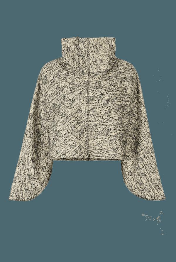 9. SOUND short collar sweater.Sound low