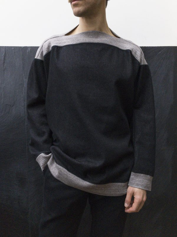 MASCULINE sweater_denim black